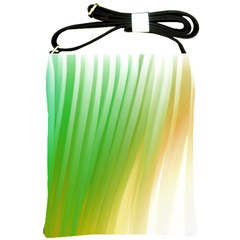 Folded Digitally Painted Abstract Paint Background Texture Shoulder Sling Bags by Simbadda
