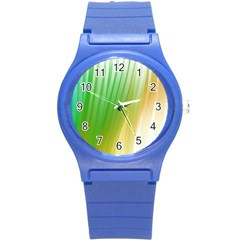 Folded Digitally Painted Abstract Paint Background Texture Round Plastic Sport Watch (s) by Simbadda