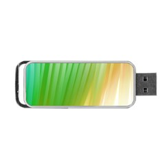 Folded Digitally Painted Abstract Paint Background Texture Portable Usb Flash (one Side) by Simbadda