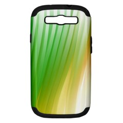 Folded Digitally Painted Abstract Paint Background Texture Samsung Galaxy S Iii Hardshell Case (pc+silicone) by Simbadda