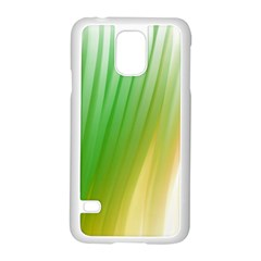 Folded Digitally Painted Abstract Paint Background Texture Samsung Galaxy S5 Case (white) by Simbadda