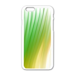 Folded Digitally Painted Abstract Paint Background Texture Apple Iphone 6/6s White Enamel Case by Simbadda
