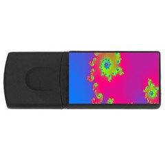 Digital Fractal Spiral Usb Flash Drive Rectangular (4 Gb) by Simbadda