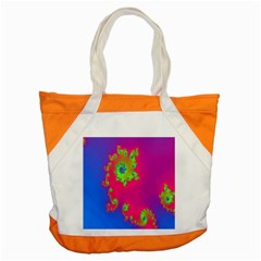Digital Fractal Spiral Accent Tote Bag by Simbadda