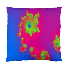 Digital Fractal Spiral Standard Cushion Case (one Side) by Simbadda