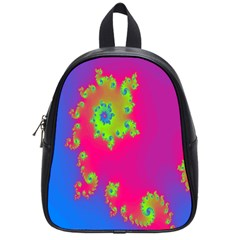 Digital Fractal Spiral School Bags (small)  by Simbadda