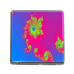 Digital Fractal Spiral Memory Card Reader (square) by Simbadda