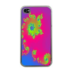 Digital Fractal Spiral Apple Iphone 4 Case (clear) by Simbadda
