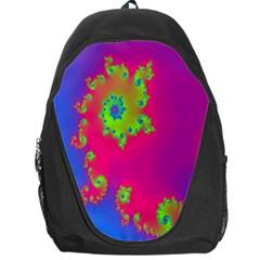 Digital Fractal Spiral Backpack Bag by Simbadda