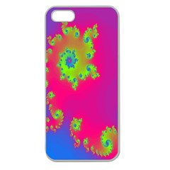 Digital Fractal Spiral Apple Seamless Iphone 5 Case (clear) by Simbadda