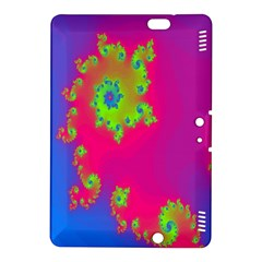 Digital Fractal Spiral Kindle Fire Hdx 8 9  Hardshell Case by Simbadda