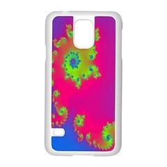 Digital Fractal Spiral Samsung Galaxy S5 Case (white) by Simbadda