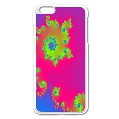 Digital Fractal Spiral Apple Iphone 6 Plus/6s Plus Enamel White Case by Simbadda