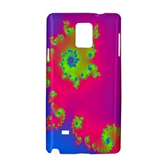 Digital Fractal Spiral Samsung Galaxy Note 4 Hardshell Case by Simbadda