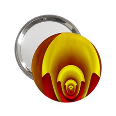 Red Gold Fractal Hypocycloid 2 25  Handbag Mirrors by Simbadda