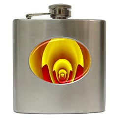 Red Gold Fractal Hypocycloid Hip Flask (6 Oz) by Simbadda