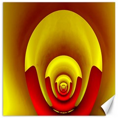 Red Gold Fractal Hypocycloid Canvas 12  X 12   by Simbadda