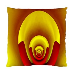 Red Gold Fractal Hypocycloid Standard Cushion Case (two Sides) by Simbadda