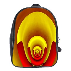 Red Gold Fractal Hypocycloid School Bags(large)  by Simbadda