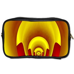 Red Gold Fractal Hypocycloid Toiletries Bags 2 Side by Simbadda