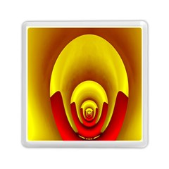 Red Gold Fractal Hypocycloid Memory Card Reader (square)  by Simbadda