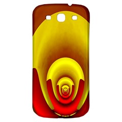 Red Gold Fractal Hypocycloid Samsung Galaxy S3 S Iii Classic Hardshell Back Case by Simbadda