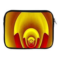 Red Gold Fractal Hypocycloid Apple Ipad 2/3/4 Zipper Cases by Simbadda