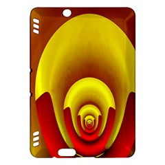 Red Gold Fractal Hypocycloid Kindle Fire Hdx Hardshell Case by Simbadda