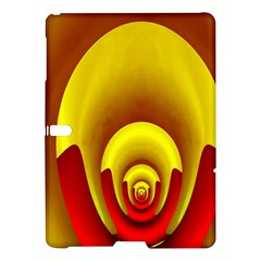 Red Gold Fractal Hypocycloid Samsung Galaxy Tab S (10 5 ) Hardshell Case  by Simbadda