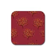 Beautiful Tree Background Pattern Rubber Coaster (square)  by Simbadda