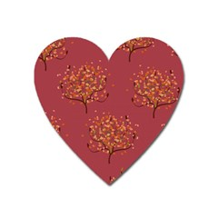 Beautiful Tree Background Pattern Heart Magnet by Simbadda
