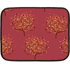 Beautiful Tree Background Pattern Fleece Blanket (mini) by Simbadda