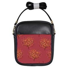Beautiful Tree Background Pattern Girls Sling Bags by Simbadda