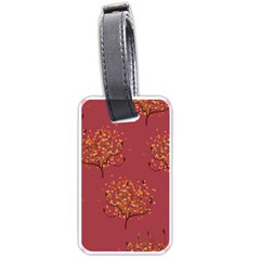 Beautiful Tree Background Pattern Luggage Tags (one Side)  by Simbadda