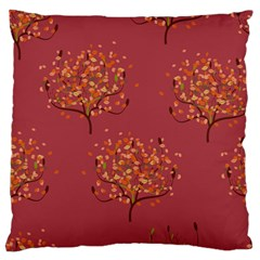 Beautiful Tree Background Pattern Large Cushion Case (one Side) by Simbadda
