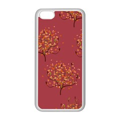 Beautiful Tree Background Pattern Apple Iphone 5c Seamless Case (white) by Simbadda