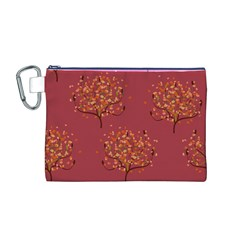 Beautiful Tree Background Pattern Canvas Cosmetic Bag (m) by Simbadda