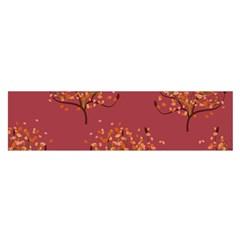 Beautiful Tree Background Pattern Satin Scarf (oblong) by Simbadda