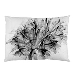 High Detailed Resembling A Flower Fractalblack Flower Pillow Case by Simbadda