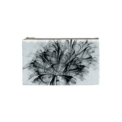 High Detailed Resembling A Flower Fractalblack Flower Cosmetic Bag (small)  by Simbadda