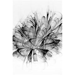 High Detailed Resembling A Flower Fractalblack Flower 5 5  X 8 5  Notebooks by Simbadda