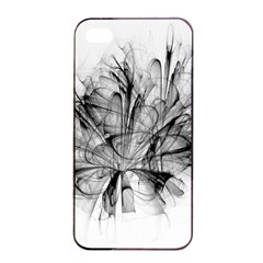 High Detailed Resembling A Flower Fractalblack Flower Apple Iphone 4/4s Seamless Case (black) by Simbadda