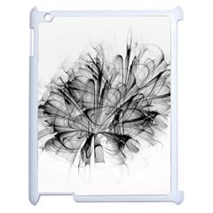 High Detailed Resembling A Flower Fractalblack Flower Apple Ipad 2 Case (white) by Simbadda
