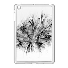 High Detailed Resembling A Flower Fractalblack Flower Apple Ipad Mini Case (white) by Simbadda