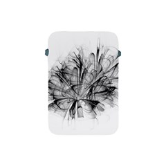 High Detailed Resembling A Flower Fractalblack Flower Apple Ipad Mini Protective Soft Cases by Simbadda