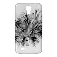 High Detailed Resembling A Flower Fractalblack Flower Samsung Galaxy Mega 6 3  I9200 Hardshell Case by Simbadda