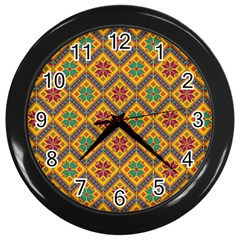 Folklore Wall Clocks (black) by Valentinaart