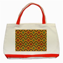 Folklore Classic Tote Bag (red) by Valentinaart