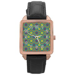 Folklore Rose Gold Leather Watch  by Valentinaart