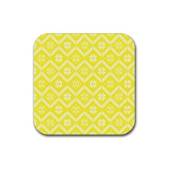 Folklore Rubber Square Coaster (4 Pack)  by Valentinaart